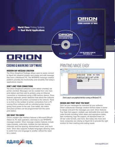 what is orion computer program